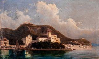 Scuola italiana, secolo XIX - View of Messina