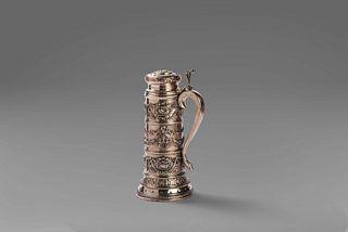 Tankard in 800 silver, 20th century