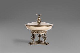 Centerpiece in 800 silver, Germany, 20th century
