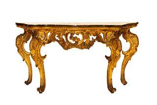Scuola italiana, secolo XVIII - Console with wooden top