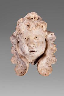 Head of cherub