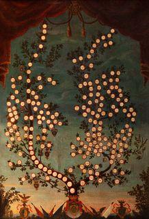 Scuola italiana, secolo XVIII - Genealogical tree of the noble Massimo family