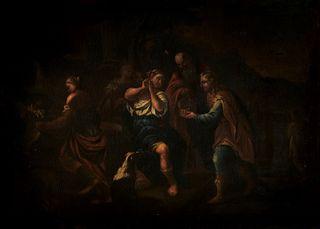 Scuola bolognese, seconda metà del secolo XVII - Biblical scene