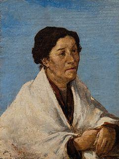 Scuola italiana fine del XIX secolo - Portrait of Mrs. Bizara
