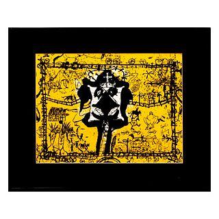 """Sergio Hernández. De la serie """"Observatorio 9"""". Firmada a mano y en plancha. Litografía seriada. Enmarcada. 40 x 30 cm"""