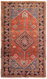 Vintage Persian Farahan , 2 ft 9 in x 4 ft 9 in ( 0.84 m x 1.45 m )