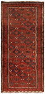 Antique Persian Balouch , 2 ft 6 in x 5 ft 3 in ( 0.76 m x 1.60 m )