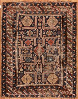 Antique Caucasian Perpedill , 3 ft 9 in x 4 ft 10 in ( 1.14 m x 1.47 m )
