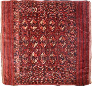 Antique Tekke Mat , 3 ft 5 in x 3 ft 5 in ( 1.04 m x 1.04 m )