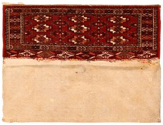 Antique Tekke Torba Trapping , 10 in x 2 ft ( 0.24 m x 0.60 m )