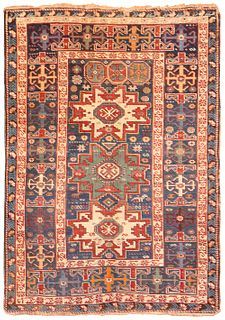 Antique Caucasian Shirvan Lesghi star , 3 ft 8 in x 5 ft 1 in ( 1.12 m x 1.55 m )
