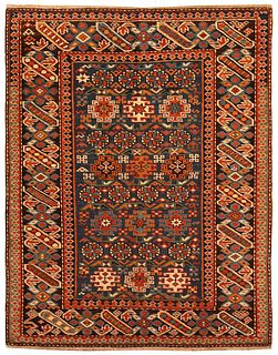 Antique Caucasian Chi-Chi rug , 2 ft 9 in x 3 ft 5 in ( 0.83 m x 1.04 m )
