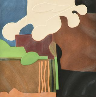 "EVE DOMY (French b. 1951) A PRINT, ""Jardinet,"""
