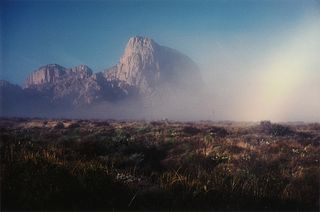 """BILL WRIGHT (American/Texas 20th/21st Century) A PHOTOGRAPH, """"Mountains in Morning Fog (Green Gulch 2) Big Bend National Park, Texas,"""" 1998,"""