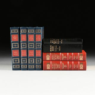 A GROUP OF EIGHT EASTON PRESS WORLD WAR II TITLES, LATE 20TH CENTURY,