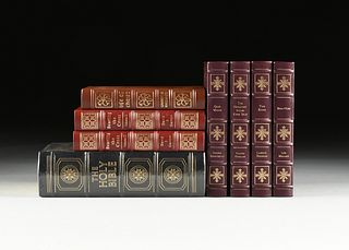 """A GROUP OF EIGHT EASTON PRESS TITLES FROM THE """"EPICS OF CHRISTIANITY"""" SERIES, LATE 20TH CENTURY"""