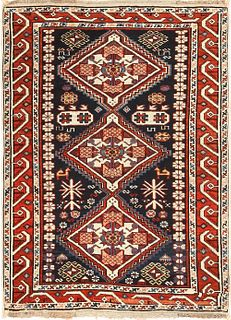 Antique Caucasian Shirvan rug , 2 ft 7 in x 3 ft 7 in (0.79 m x 1.09 m)
