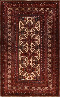Antique Caucasian Zeychour rug , 5 ft 6 in x 8 ft 10 in ( 1.68 m x 2.7 m )