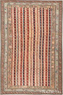 Antique Caucasian Shirvan rug , 3 ft 9 in x 5 ft 9 in (1.14 m x 1.75 m)