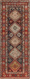 Antique Caucasian Shirvan , 3 ft 8 in x 9 ft 8 in ( 1.12 m x 2.95 m )