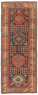 Antique Caucasian Shirvan , 3 ft 4 in x 8 ft 2 in ( 1.02 m x 2.49 m )