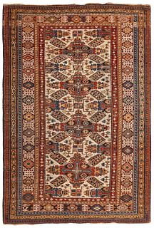 Antique Caucasian Zeychour , 4 ft 4 in x 6 ft ( 1.32 m x 1.83 m )