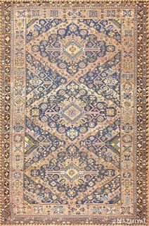 Antique Caucasian Soumak rug ,8 ft x 12 ft 4 in (2.44 m x 3.76 m)