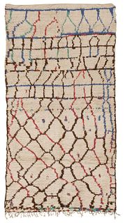 Vintage Moroccan rug , 5 ft x 9 ft 2 in (1.52 m x 2.79 m)