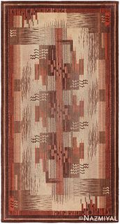 Vintage French Art Deco rug , 5 ft x 9 ft (1.52 m x 2.74 m)