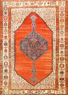 Antique Persian Bakhshaish carpet , 9 ft 5 in x 12 ft 8 in (2.87 m x 3.86 m)