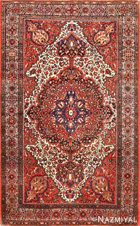 Antique Persian Sarouk Farahan , 4 ft x 6 ft 5 in (1.22 m x 1.96 m)