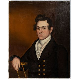 An American Folk Art Portrait of a Man