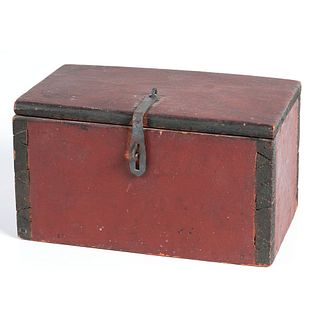An Early Painted Document Box
