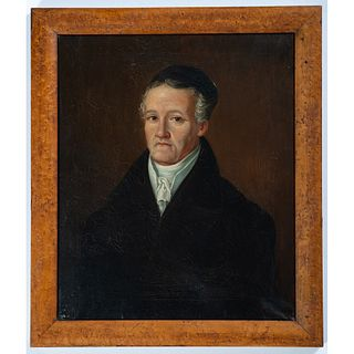 A Portrait of a Man in a Maple Frame
