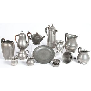 A Large Group of Pewter Tablewares