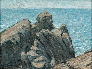 Charles Demuth (American, 1883-1935)      Rocks and Sea (Coastal Scene)