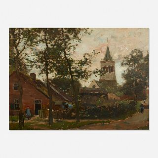 Henry Ward Ranger, Landscape with a Church