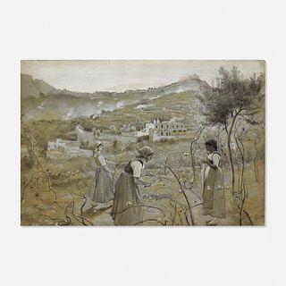 Charles Caryl Coleman, Capri Girls Pruning Vines
