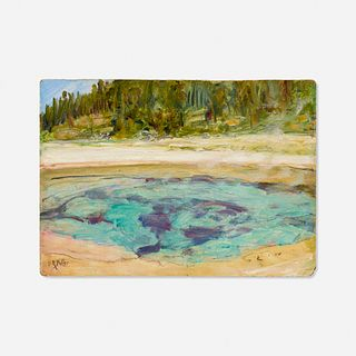 Howard Russell Butler, Hot Springs, Yellowstone (Morning Glory Pool)