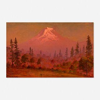James Everett Stuart, Smoky Sunset, Mount Adams from Klickitat, Washington