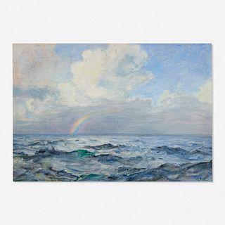 Howard Russell Butler, Caribbean Sea, Thunderhead with Rainbow Below