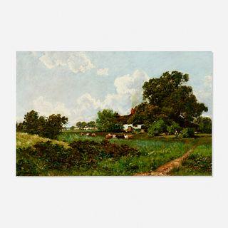 Ransome Gillett Holdridge, Pastoral Landscape with Grazing Cattle