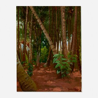 Theodore Wores, A Coconut Grove, Honolulu, Hawaii