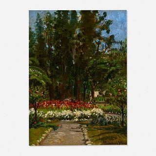 Theodore Wores, Linden Hotel Garden, Los Gatos, California