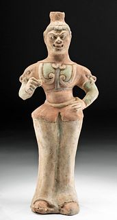Chinese Tang  Dynasty Pottery Guardian Figure w/ TL