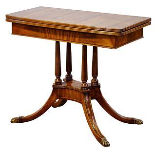 Sheraton Style Mahogany Game Table