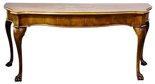 Chippendale Style Walnut Console Table