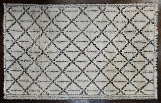 Moroccan Fringed Wool Rug