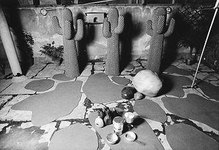 Gabriele Basilico (1944-2013)  - Cactus appendiabiti scultura Gufram, design di Guido Drocco e Franco Mello, years 1970
