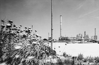 Mimmo Jodice (1934)  - Impianto petrolchimico, panoramica (Priolo - Siracusa), years 1990